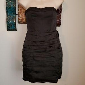 New Express Sz 0 Black Strapless Silky Party Dress